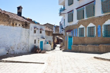 Street in the blue city of Chefchaouen