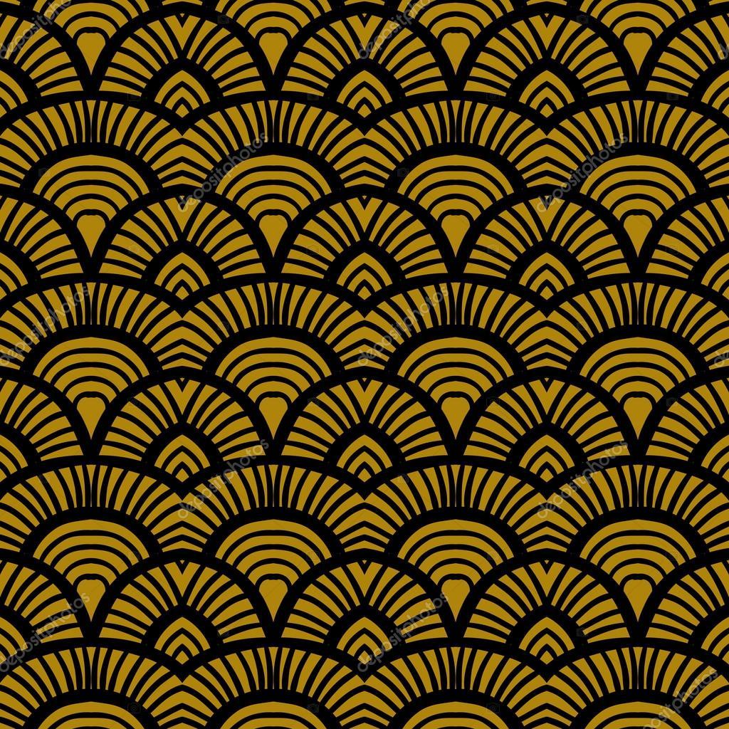 jahrgang hand gezeichnete art deco muster stockvektor tukkki 56601627. Black Bedroom Furniture Sets. Home Design Ideas
