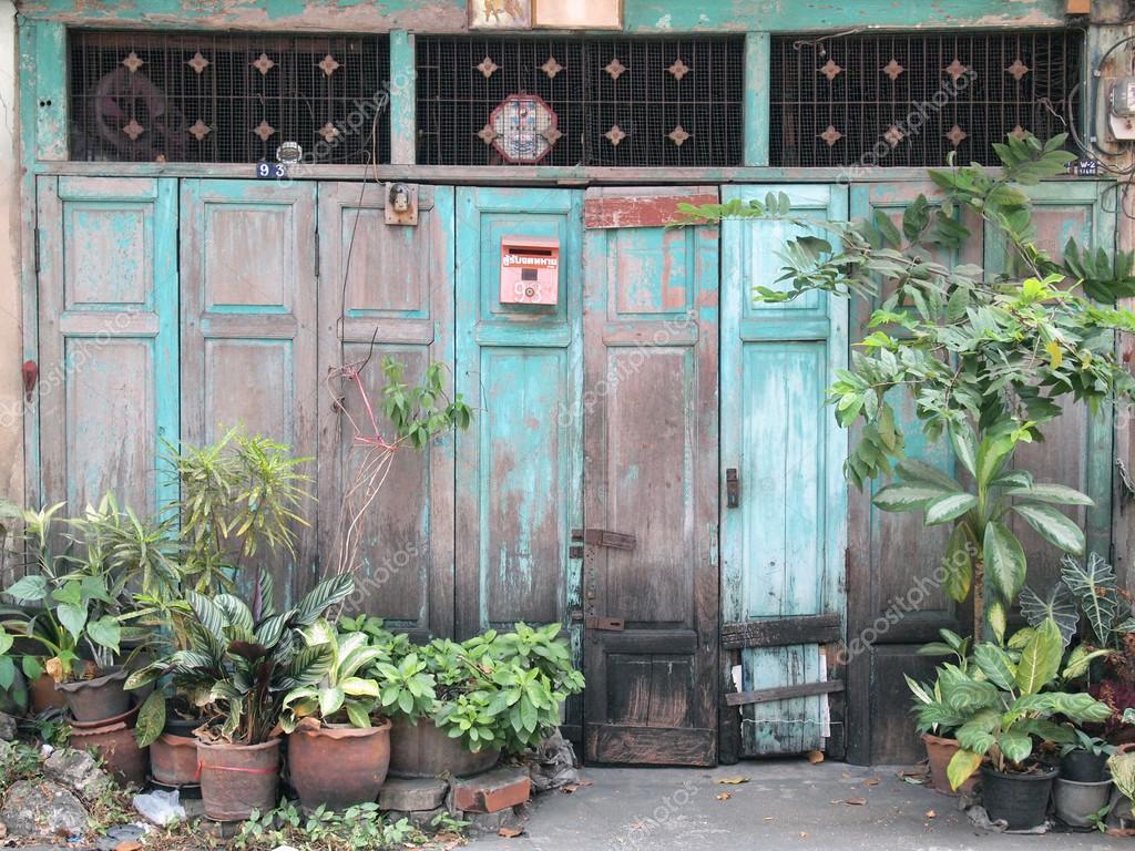 Thai Old Front Doors Stock Photo Paisan191 119714680