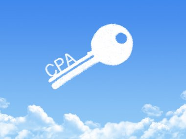 Key to CPA Information Concept cloud shape