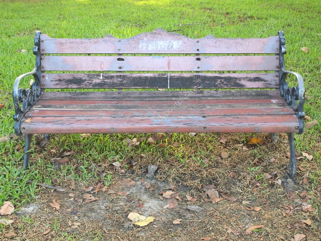 Incredible Old Wooden Bench In The Garden Stock Photo C Paisan191 Cjindustries Chair Design For Home Cjindustriesco