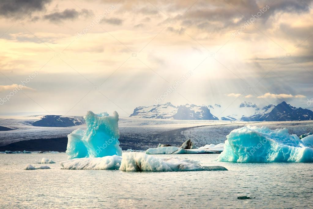 glacier lagoon background
