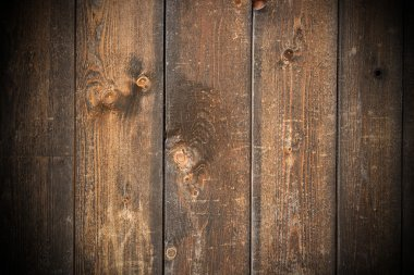 weathered fir planks on old fence