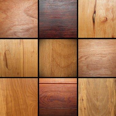 real wood veneer collage