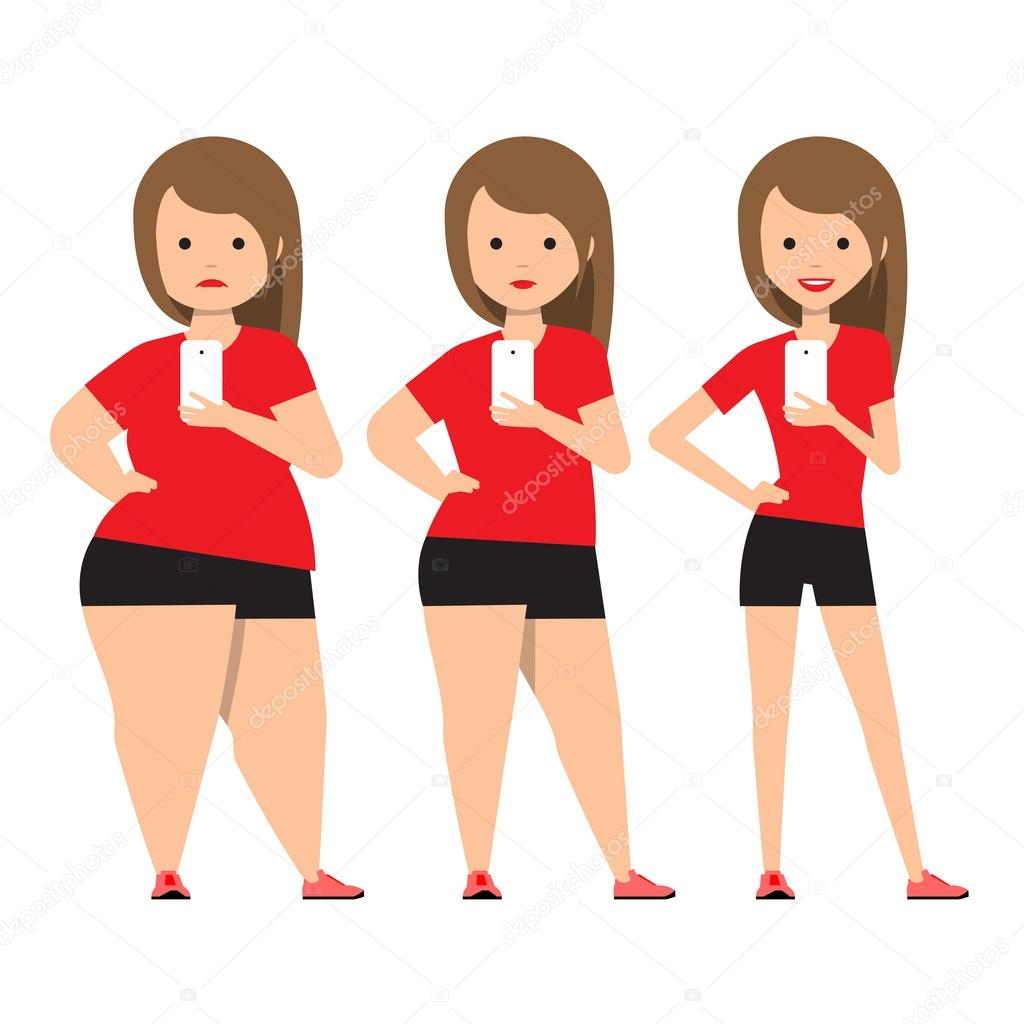 Stages Weight Loss Before And After Stock Vector C Sooolnce 102664000