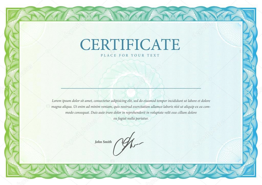 Plantilla de certificado y diplomas. Vector de — Archivo Imágenes ...