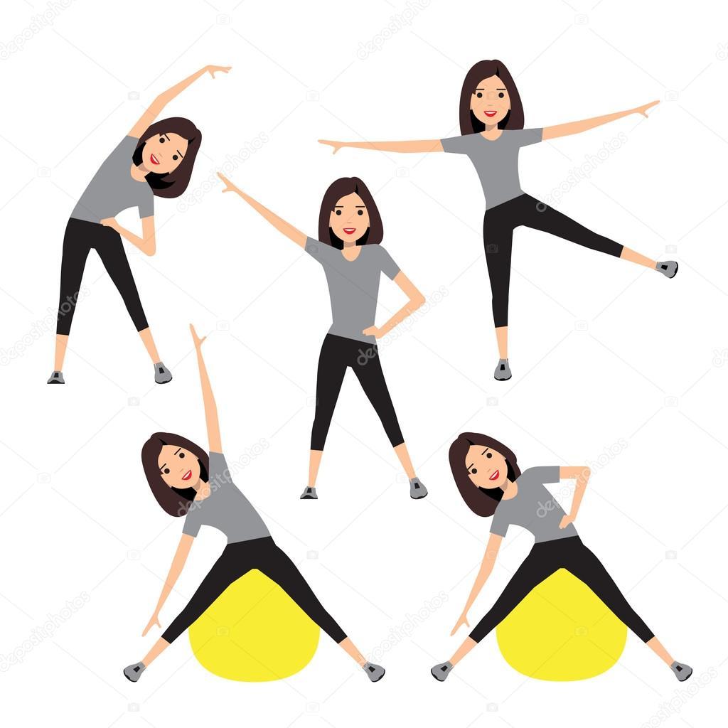 Fitness instructor. A slender girl
