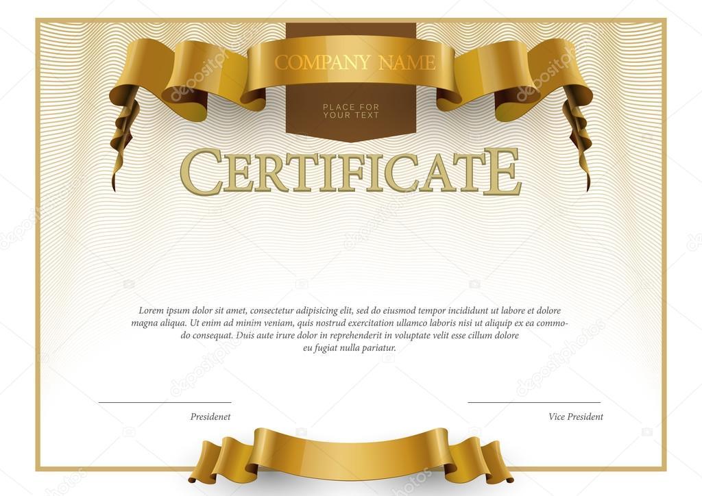 Plantilla de certificado y diplomas modernos. Vector de — Archivo ...
