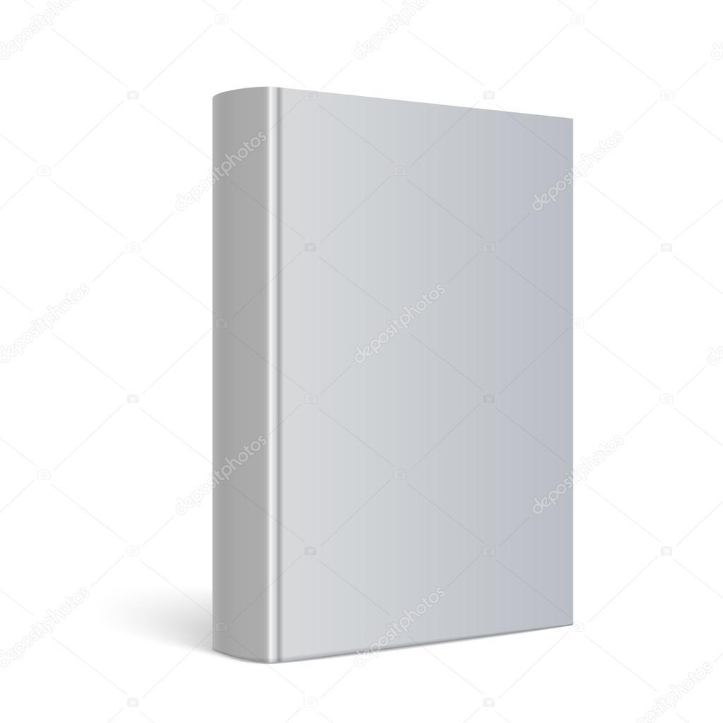 Book Cover Illustration Fee : 現実的な空白ブック カバー — ストックベクター sooolnce