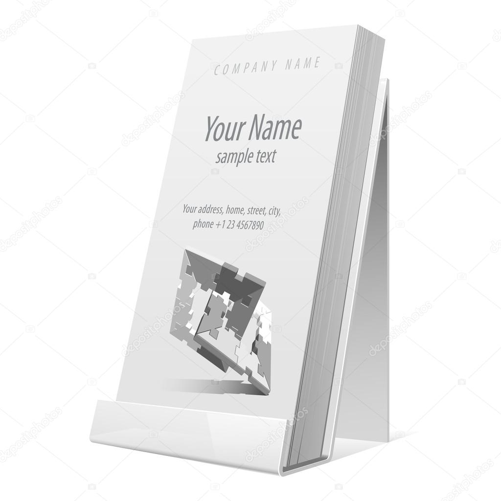 White glossy holder for flyer brochure vector illustration stock white glossy holder for flyer brochure booklet business cards vector illustration vector by sooolnce reheart Images