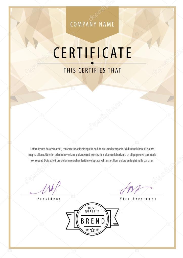 Modern-Zertifikat. Vorlage-Diplome, Währung — Stockvektor © Sooolnce ...