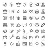Kabelové sady ikon. Ikony pro podnikání