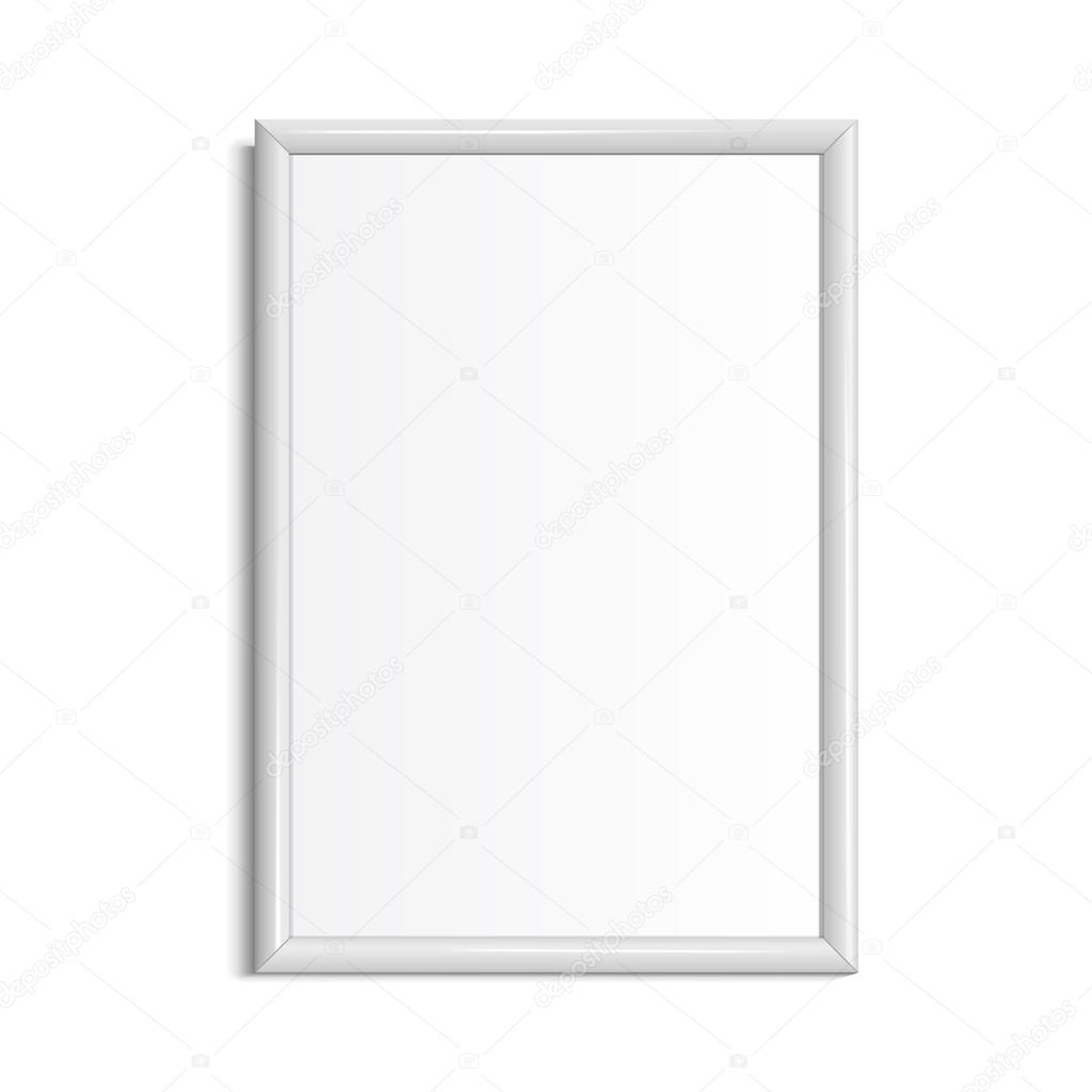 Realistic White horizontal frame for paintings — Stock Vector ...