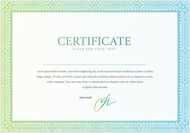 Vector pattern that is used in certificate