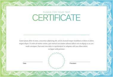 Certificate. Award background.