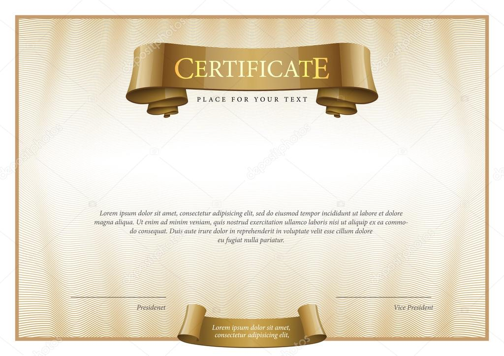 Modern certificate template diplomas currency stock vector certificate award background gift voucher template diplomas currency vector illustration vector by sooolnce yelopaper Gallery