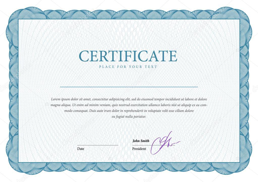 Zertifikat. Vorlage-Diplome, Währung — Stockvektor © Sooolnce #83554740