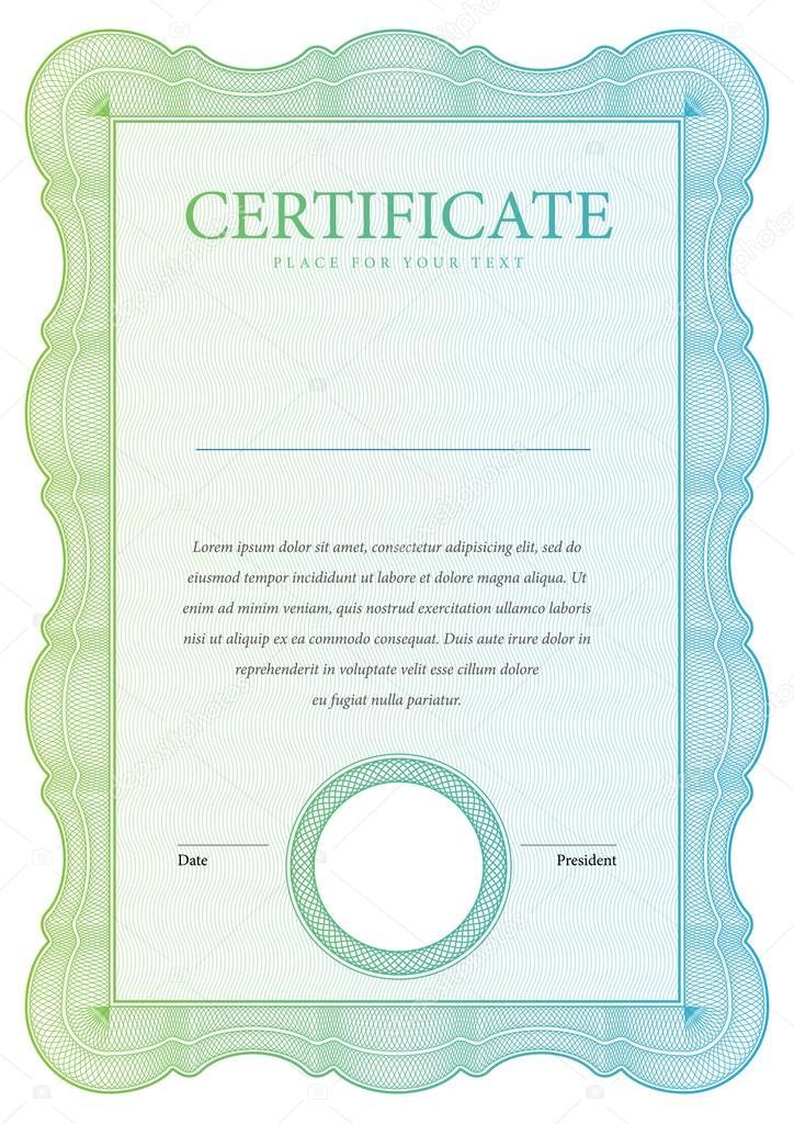 Jahrgang-Zertifikat. Vorlage-Diplome, Währung — Stockvektor ...