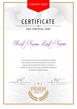 Template Modern Certificate.