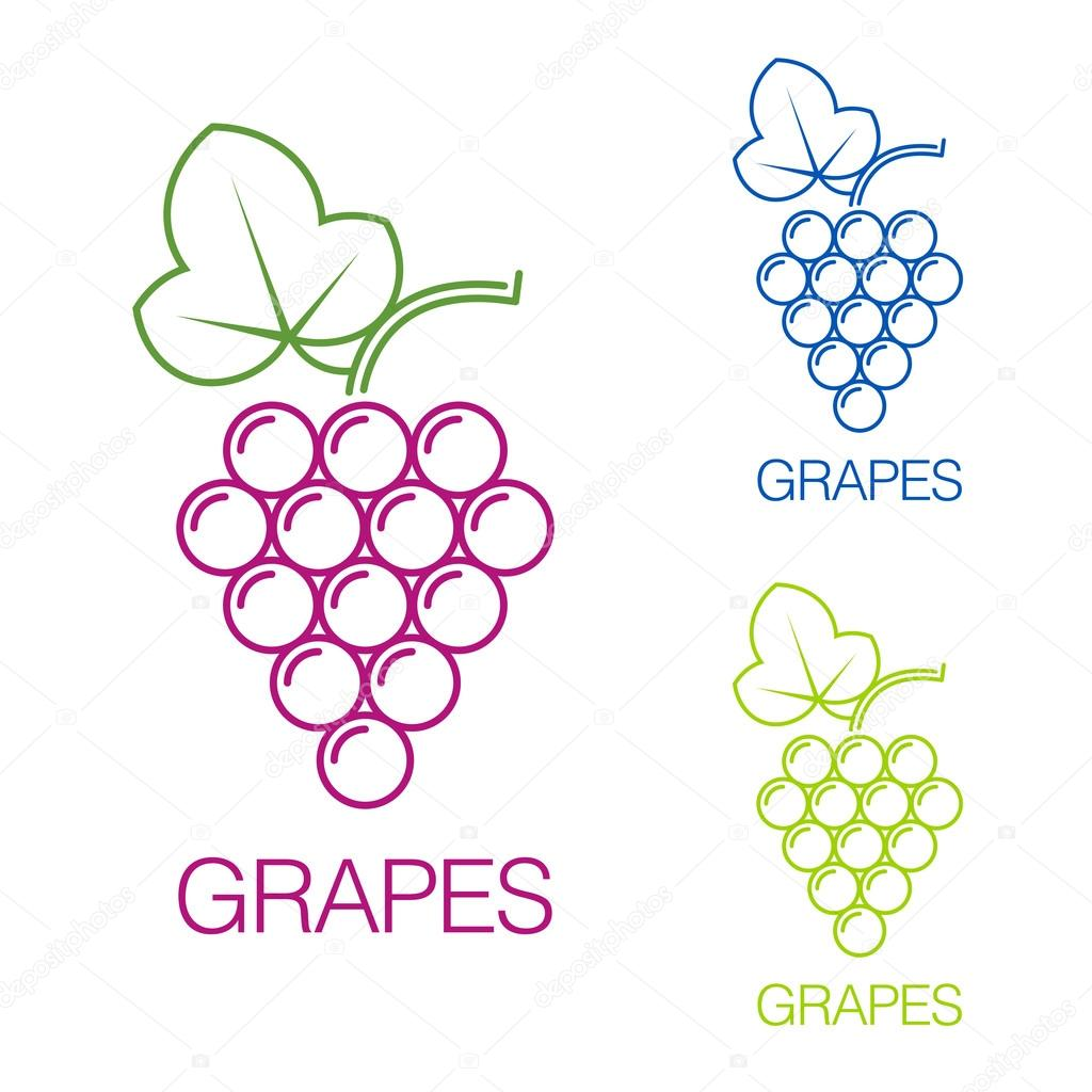 Grape Sign Logo Wine Production Of Wines Stock Vector Sooolnce