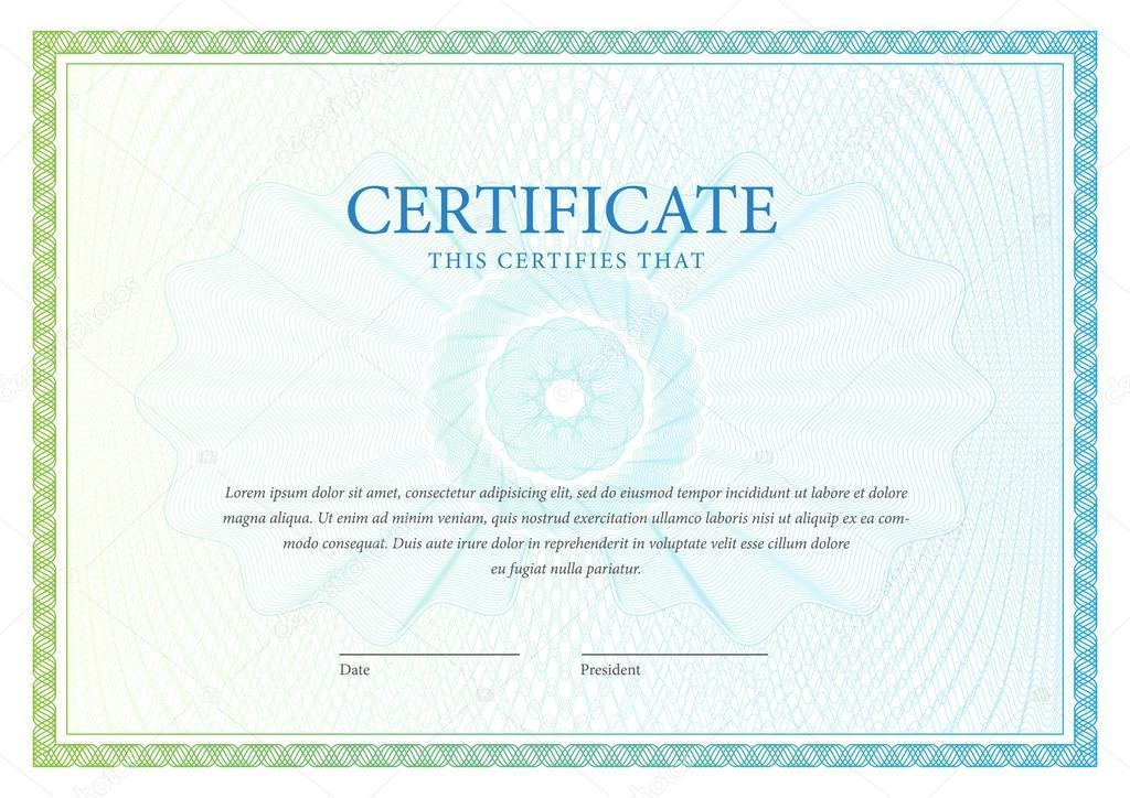 Zertifikat. Vorlage-Diplome, Währung. Vektor — Stockvektor ...