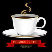Šálek kávy vektor, kreativní design café myšlenka