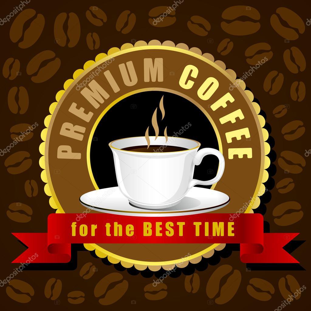 Coffee cup vector, Creative design cafe idea