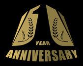Jeden rok výročí kreativní koncept vektor