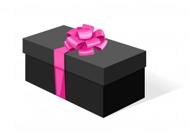Cardboard box with a lid. gift wrapping for gifts. color vector illustration. icon