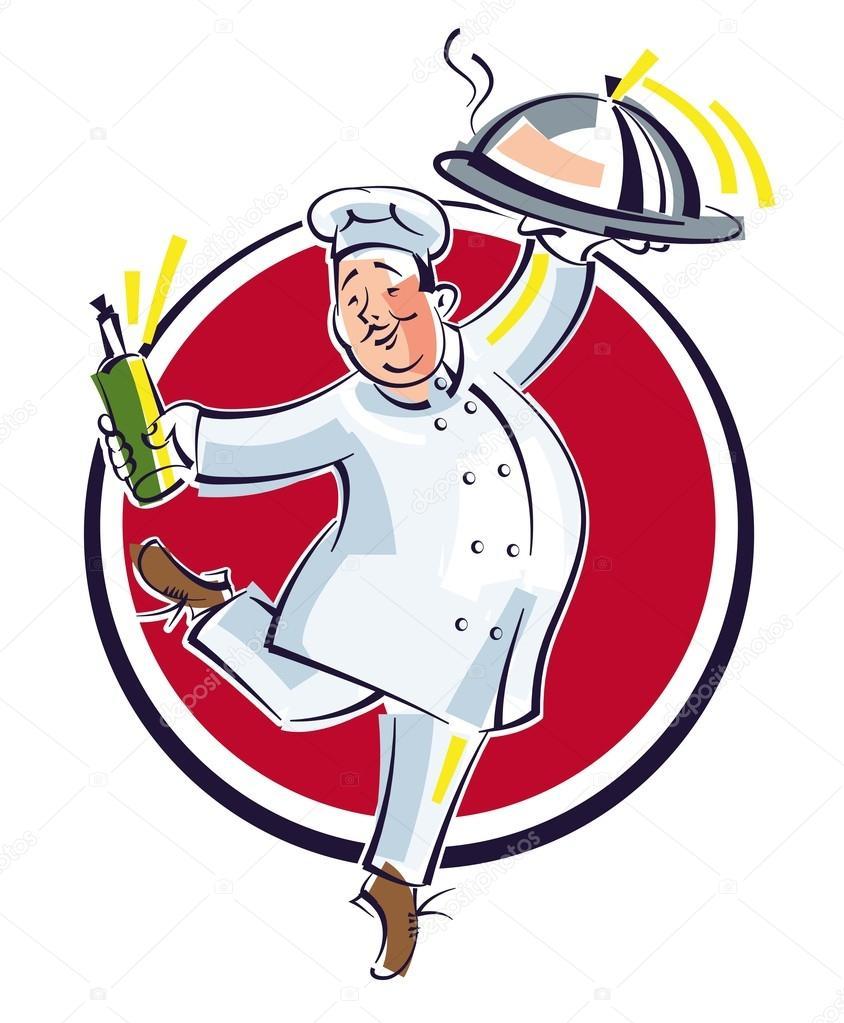 плакат шеф повар на графике картинки нежная, загадочная