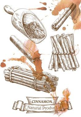 Detailed cinnamon set