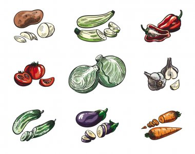 Vegetables color