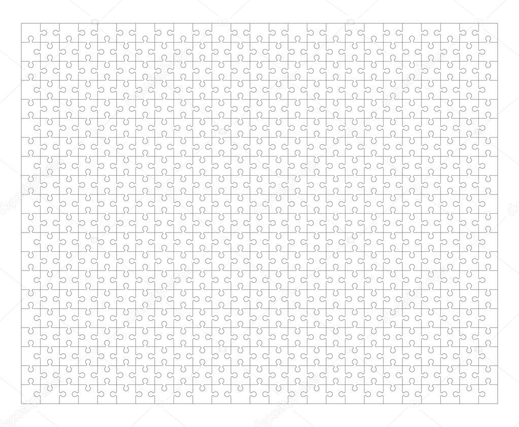 Jigsaw Puzzle Rahmen — Stockvektor © lapuma #90336764