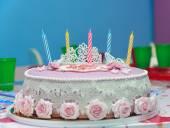 Fotografie narozeninový dort s pěti svíček