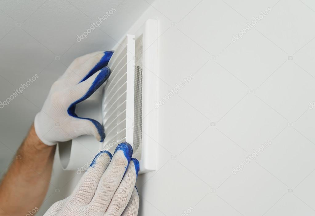 Установка вентиляционных решеток<br>