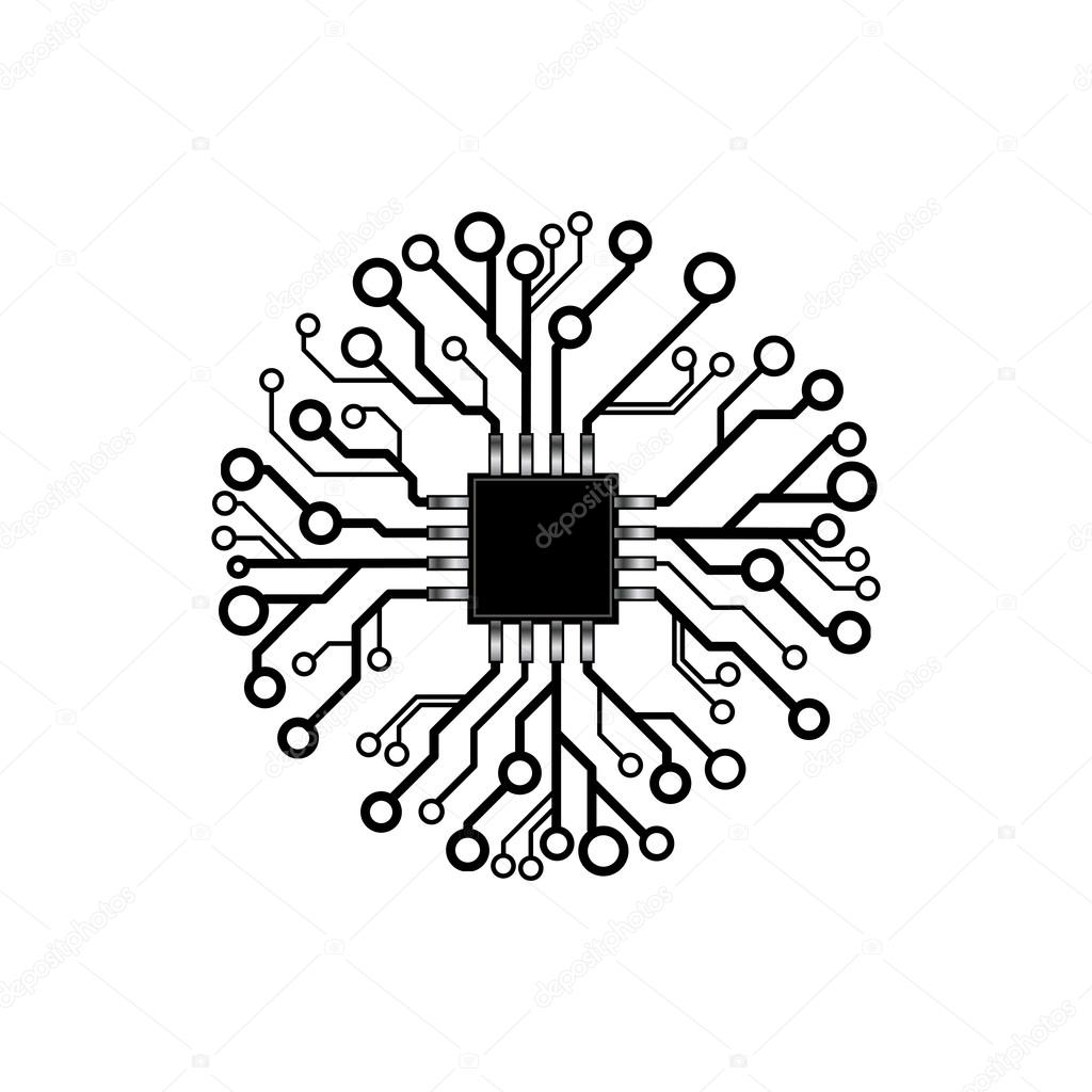 vector circuit board circle  u2014 stock vector  u00a9 germina  121068622