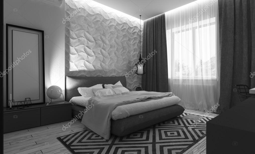 moderne Schlafzimmer-Interieur — Stockfoto © Podsolnukh #100607366