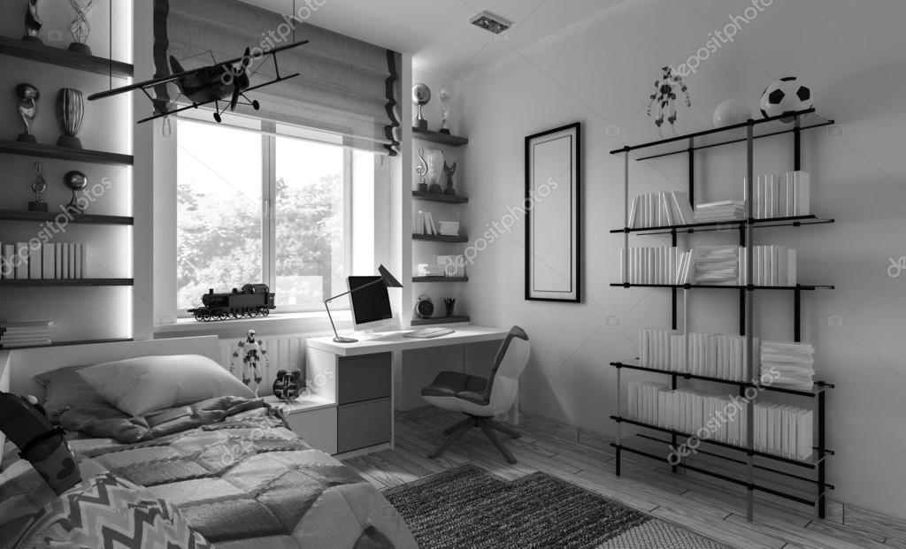 camera da letto per bambini interni — Foto Stock © Podsolnukh #100729492