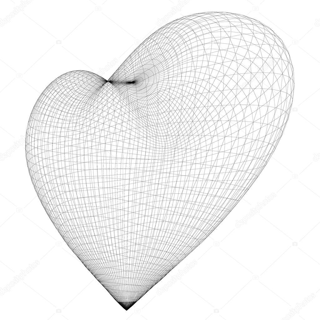 Marco de corazón de alambre — Fotos de Stock © Podsolnukh #104807146