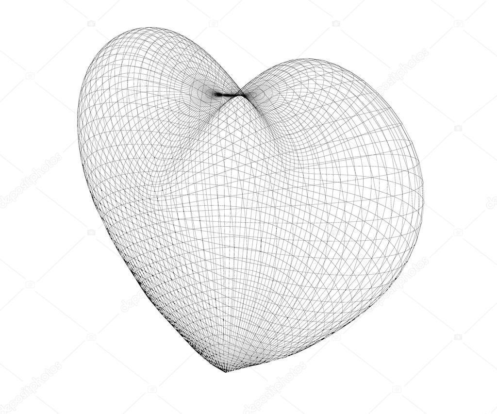 Marco de corazón de alambre — Foto de stock © Podsolnukh #104813384