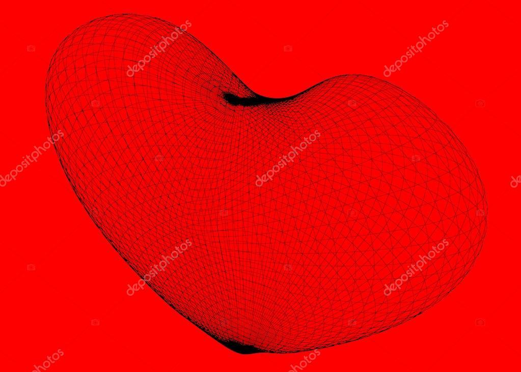 Marco de corazón de alambre — Foto de stock © Podsolnukh #104847036