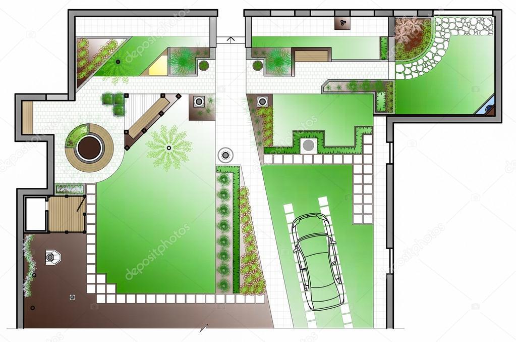 Zahradni Architekt Kresba Stock Fotografie C Podsolnukh 111016240