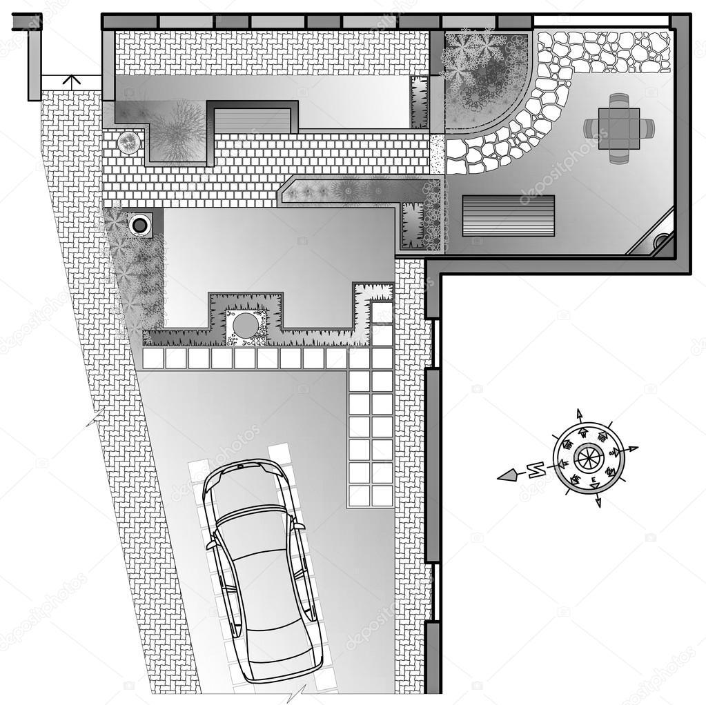 dessin de l architecte paysagiste photographie podsolnukh 111649128. Black Bedroom Furniture Sets. Home Design Ideas