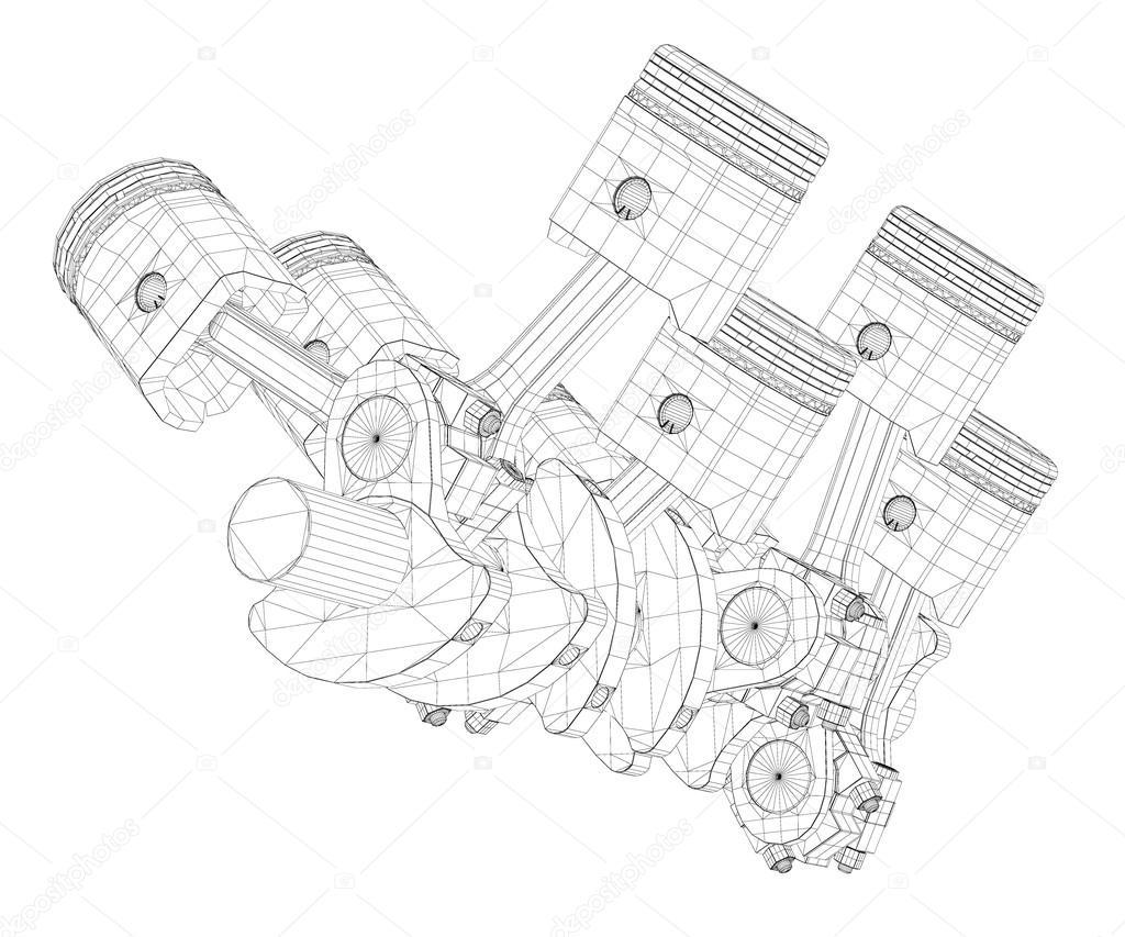 V8 Engine Piston Diagram Not Lossing Wiring Animation Pistons Stock Photo Podsolnukh 81727792 Rh Depositphotos Com Diesel