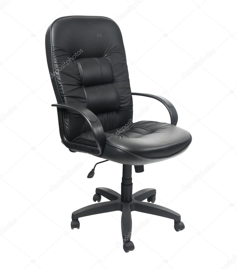 Charmant Black Office Spinning Chair Isolated On White Background U2014 Photo By  Gargantiopa1