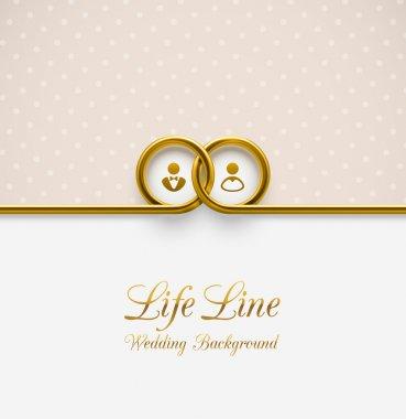 LifeLine, wedding background, eps 10 stock vector