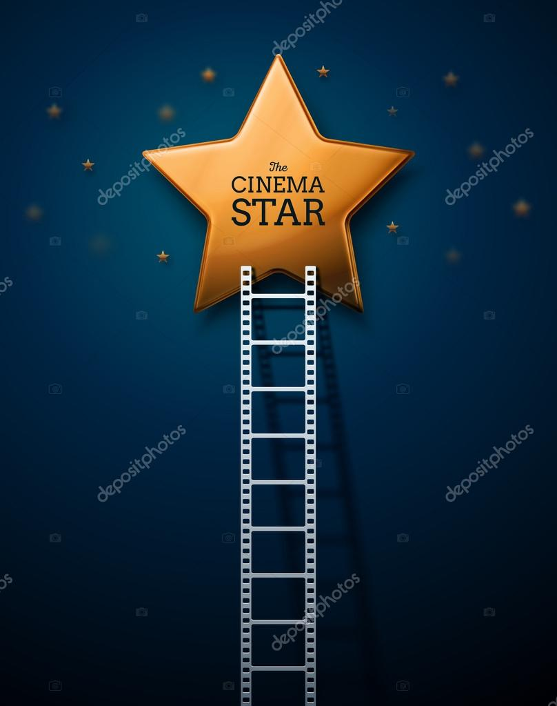 Way to the stars of cinema, eps 10 stock vector