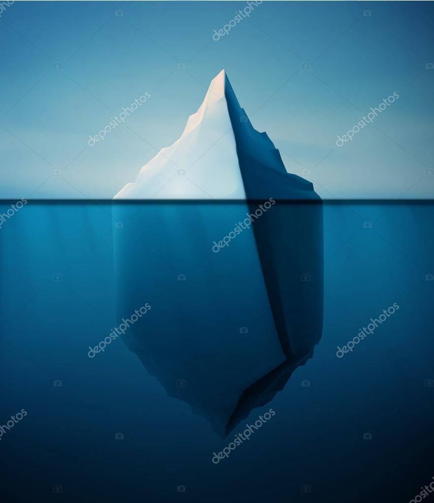 Ice berg on water