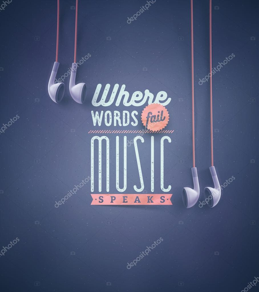 Template For Music Quotes Stock Vector C Lonely11 78606628