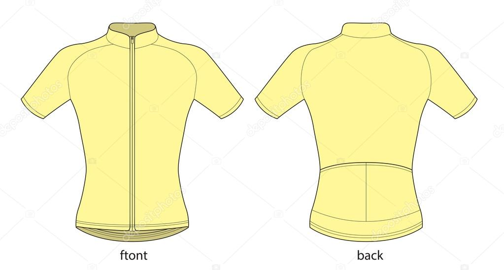 Bicycle jersey template — Stock Vector © Lukaves  109622228 64cef9f39